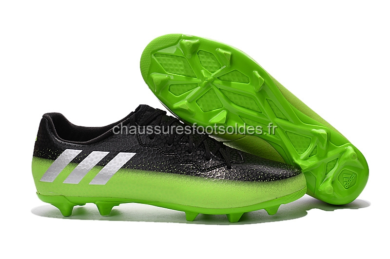 sports shoes 2fbcf d998c Adidas Crampon De Foot Messi 16.3 FG Noir Vert