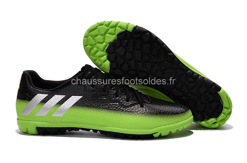 new styles f35e5 0168d Adidas Crampon De Foot Messi 16.3 TF Noir Vert  CFS784 .