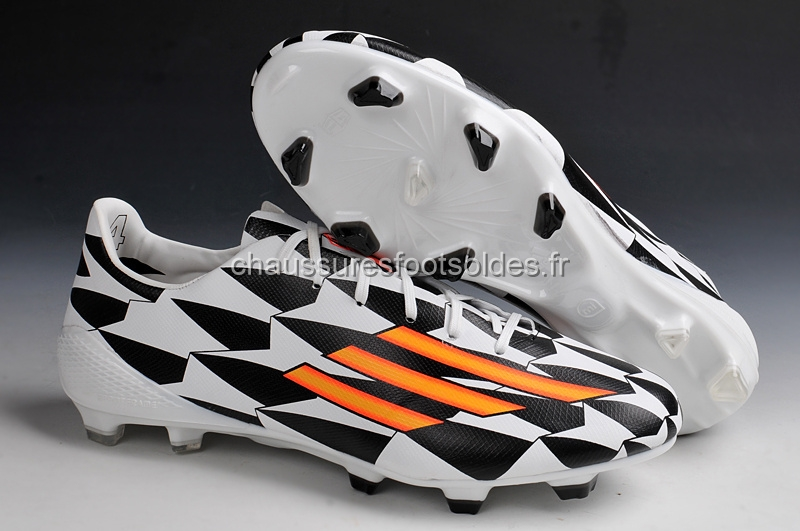Adidas Crampon De Foot Messi F50 FG Noir Blanc Orange