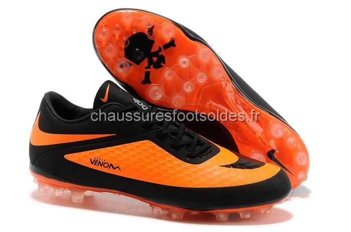 Nike Crampon De Foot HyperVenom AG Noir Orange