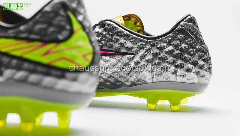 innovative design 3e8cd 613bb Nike Crampon De Foot HyperVenom FG Argent Vert Fluorescent [CFS61 ...