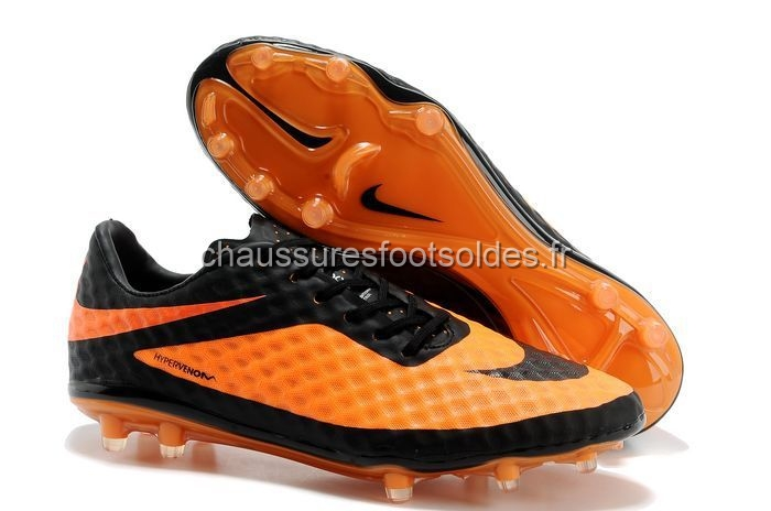 Nike Crampon De Foot HyperVenom FG Noir Orange