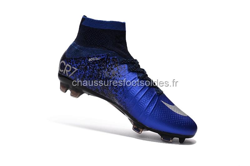 d622e5059 Nike Crampon De Foot Mercurial Superfly CR7 FG Bleu Noir  CFS387 ...