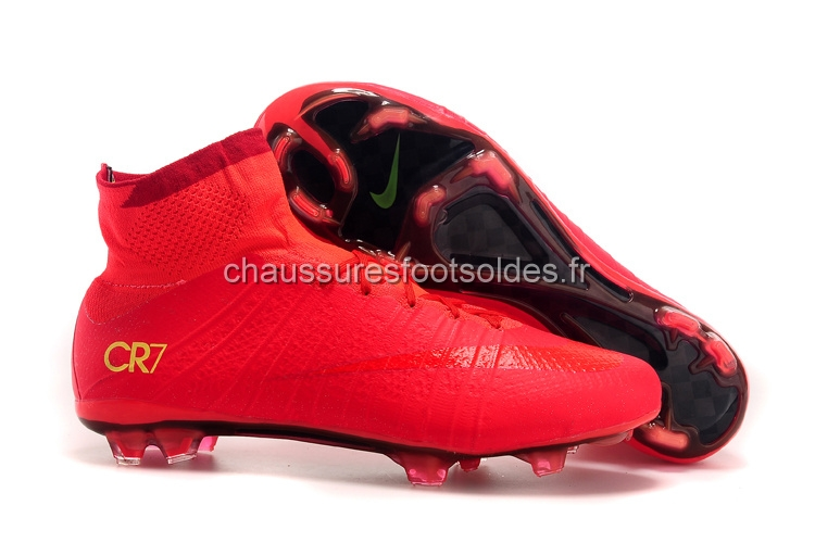Nike Crampon De Foot Mercurial Superfly CR7 FG Rouge