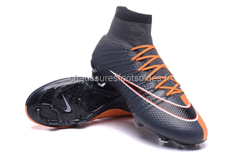 Nike Crampon De Foot Mercurial Superfly FG Noir Orange Noir
