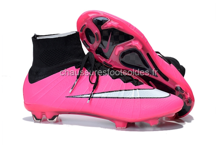 Nike Crampon De Foot Mercurial Superfly FG Noir Rose Blanc