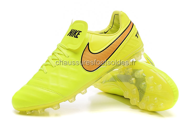 Nike Crampon De Foot Tiempo Legend VI AG Vert Fluorescent Orange