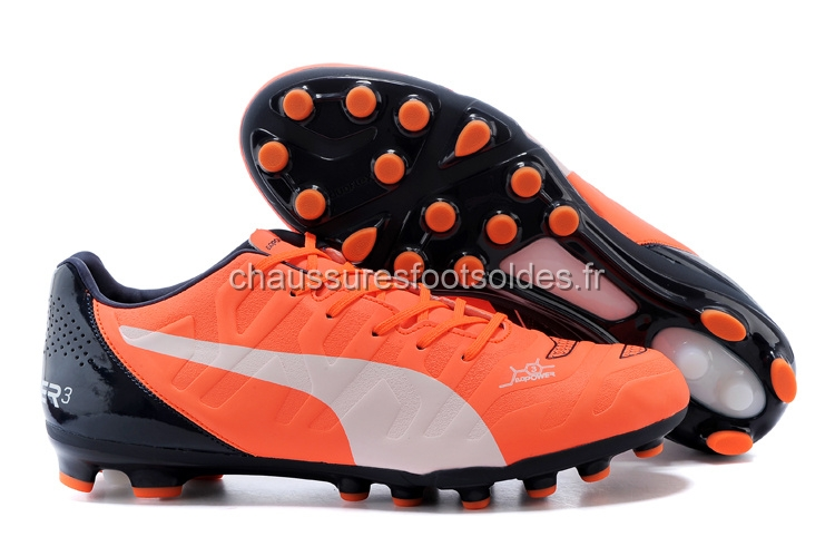 Puma Crampon De Foot evoPOWER AG Noir Orange Blanc