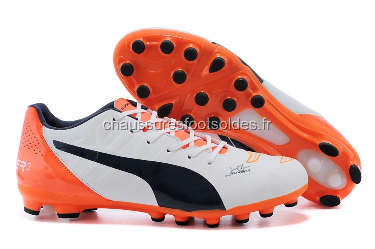 Puma Crampon De Foot evoPOWER AG Orange Blanc Noir