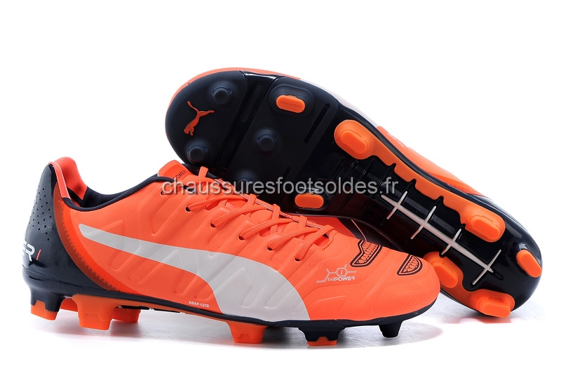 Puma Crampon De Foot evoPOWER FG Noir Orange Blanc