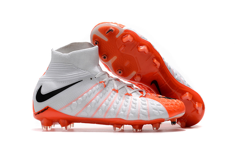 Nike Crampon De Foot Hypervenom Phantom III DF FG Blanc Orange