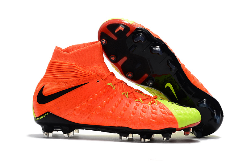 Nike Crampon De Foot Hypervenom Phantom III DF FG Fluorescent Orange