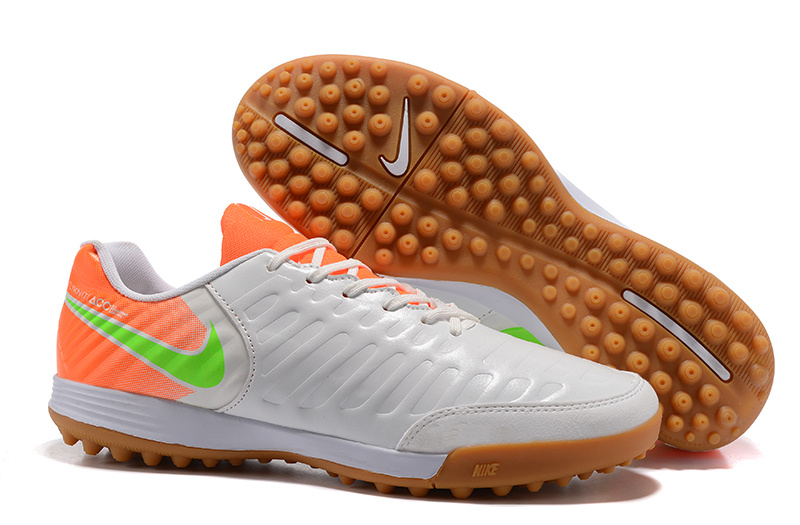 Nike Crampon De Foot Tiempo Mystic VII TF Blanc Orange